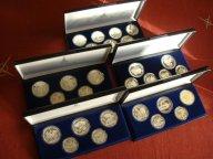 Набор Олимпиада 80 серебро - 28 шт! 5 и 10 рублей ПРУФ Оригинал!