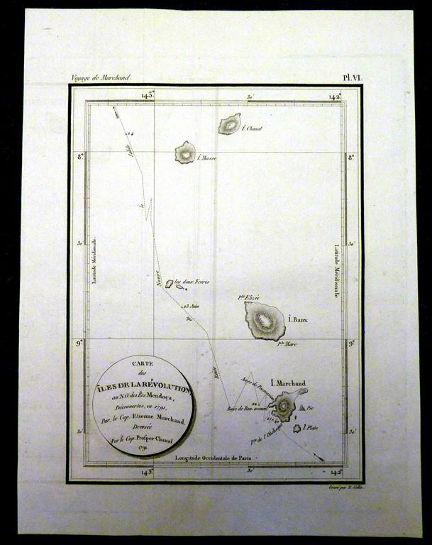 старинная морская карта гравюра  1800 сост ориг