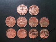 Китай   Красная книга   Набор  ВСЕ  10 монет   XF
