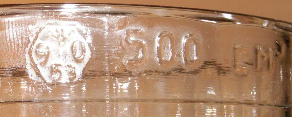 Кружка пивная СССР 0.5 л. стекло 1990