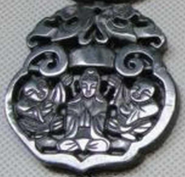 Амулет подвеска прорезная двухсторонняя Буддизм 5