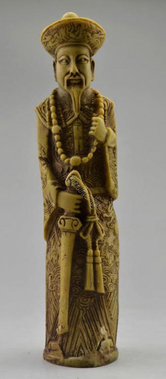 Статуэтка Император Qianlong кость