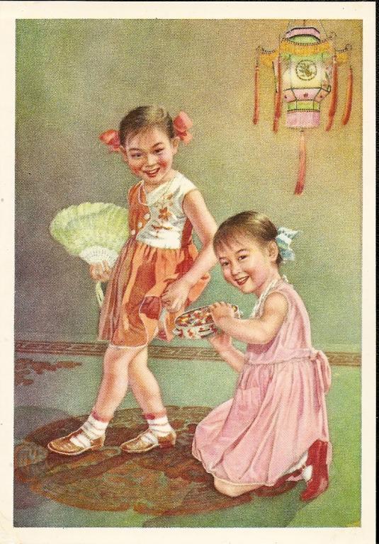 Китайские открытки 50 х годов 81