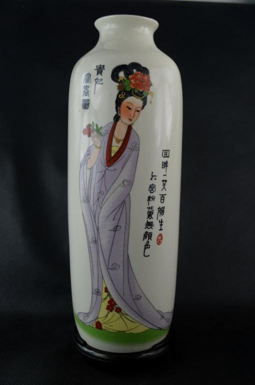 Китай Ваза фарфор Прекрасная девушка Красавица