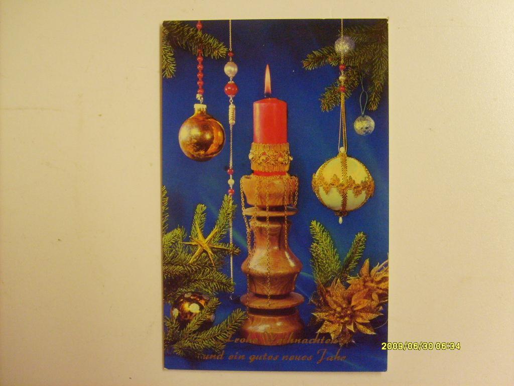 новогодние открытки гдр растение