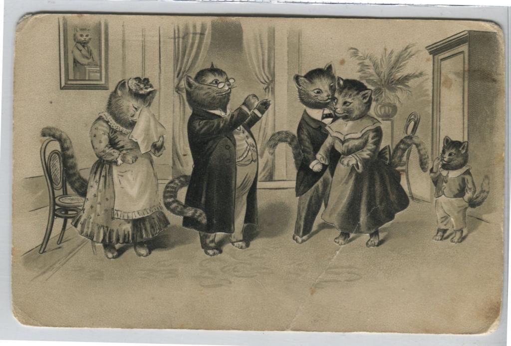 Открытки для, ретро открытки 19 век