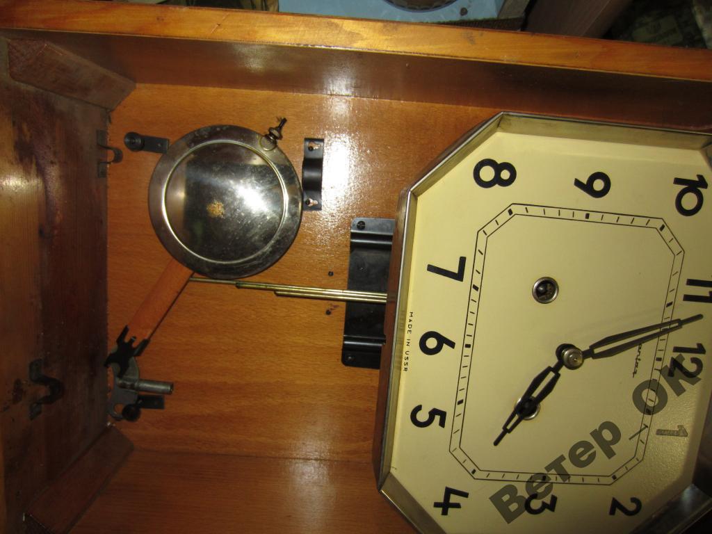 Ремонт своими руками настенных часов янтарь с боем 189