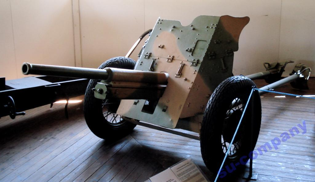45-мм противотанковая пушка образца 1942 г м-42 - 1/43 - д сергеев