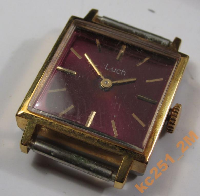 Часы женские ЛУЧ позолота СССР 70-е годы на ходу