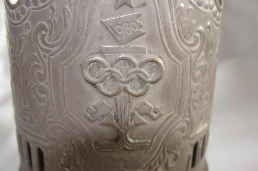 Подстаканник Олимпиада-80, мельхиор. СССР, 1980 г.