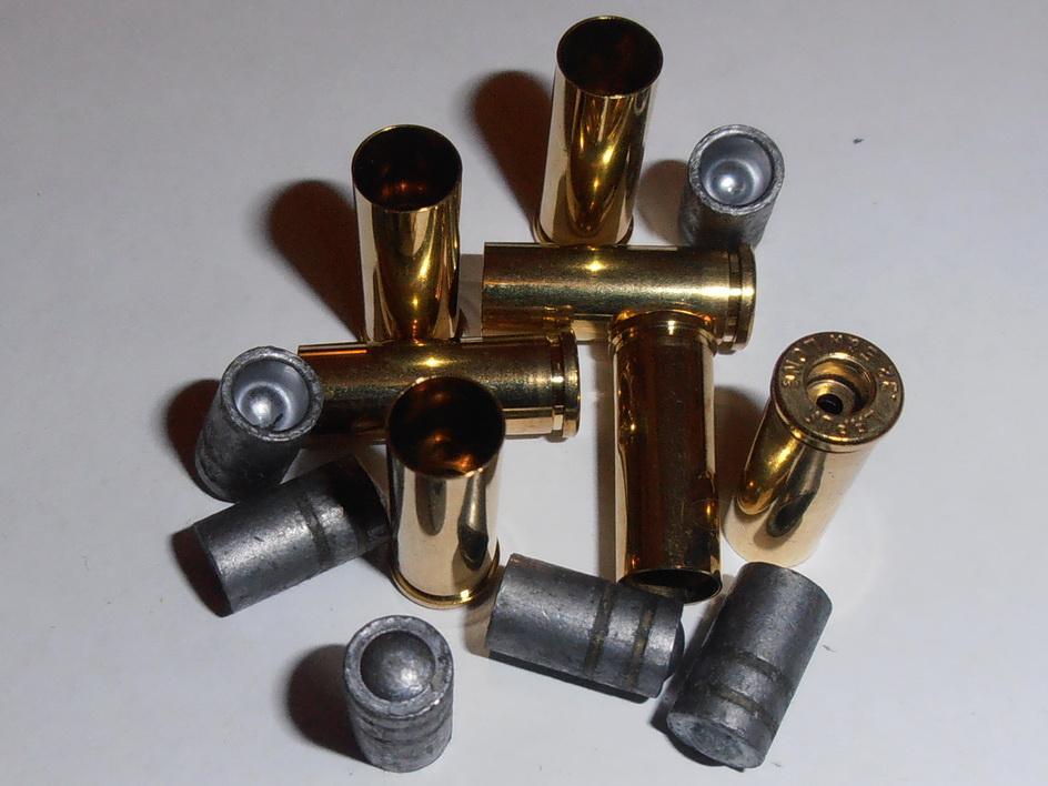 Комплект 32 S&W Long, гильза/пуля, для сборки, 50 штук