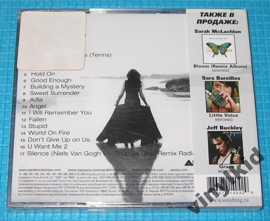 CD SARAH MCLACHLAN-THE BEST-2008(ЛИЦ)ЗАПЕЧАТAH