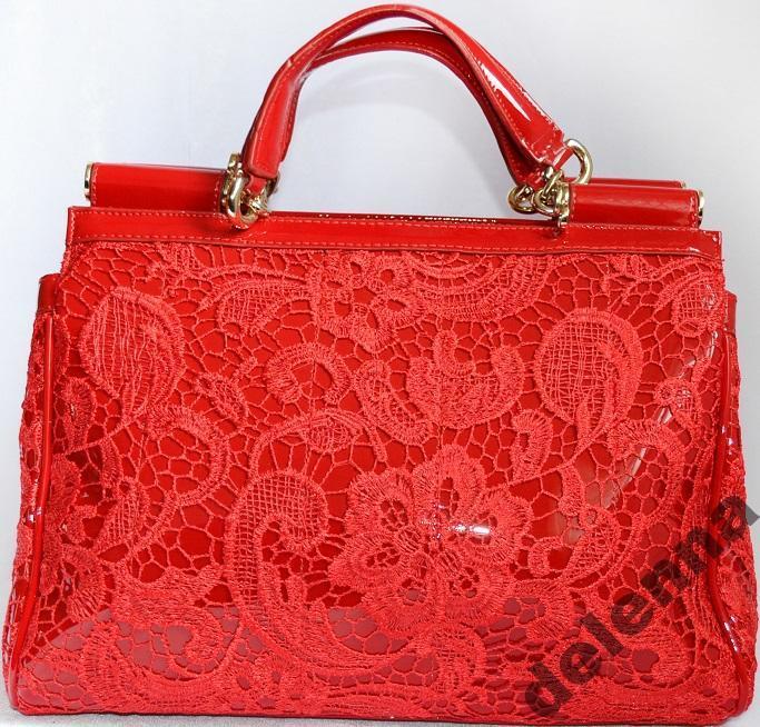 Дольче габбана красное кружево сумка