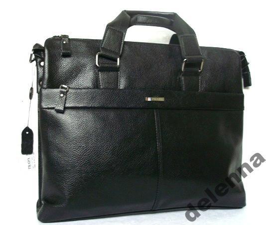 6cb6c7d83548 Мужская кожаная сумка Prada NEW! - Ноутбук 13, 14