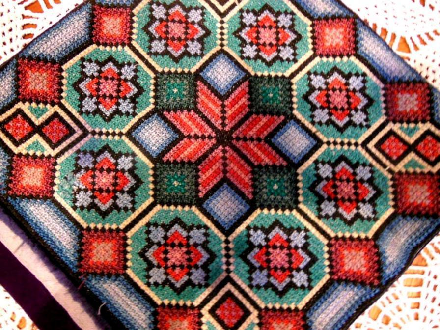 Наволочка думочка вышивка болгарский крестик