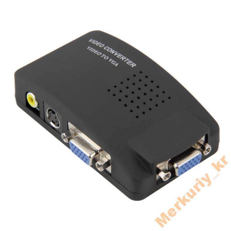 RCA / S-video / VGA  -- VGA Монитор Конвертер.