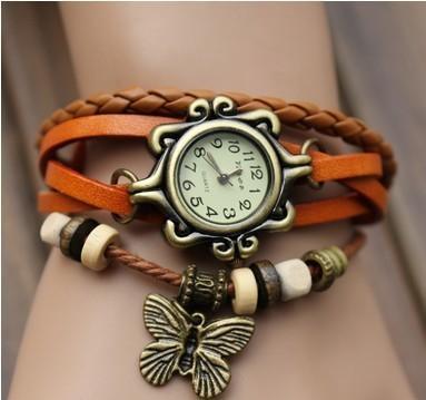 Винтаж Часы женские Ремешок из натур.кожи 18 видов