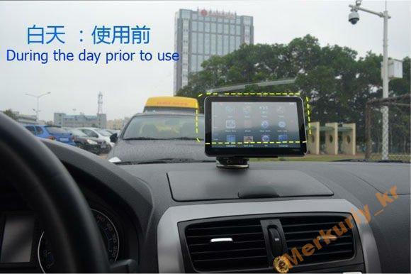 Солнцезащитный козырек для GPS навигатора 5*.