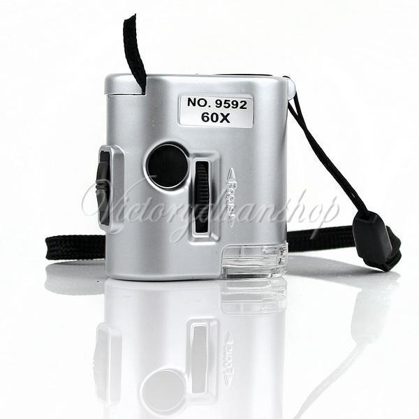 60X карманная лупа микроскоп