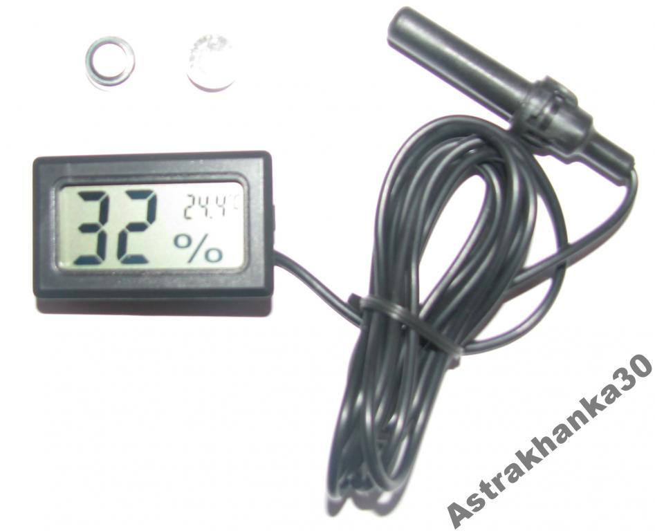 Гигрометр + термометр (инкубатор, террариум)