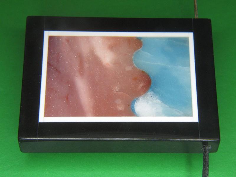 Кулон подвеска Амазонит Мукаит оникс яшма 40x31x6,3 мм