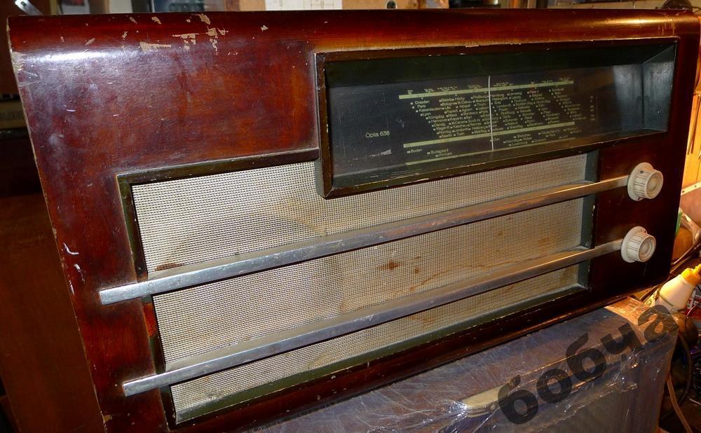 LOEWE OPTA 638W,модель 1937-1938г, Радиоприёмник хорошо и громко шипит...