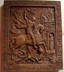 Резная деревянная Икона Георгий Победоносец