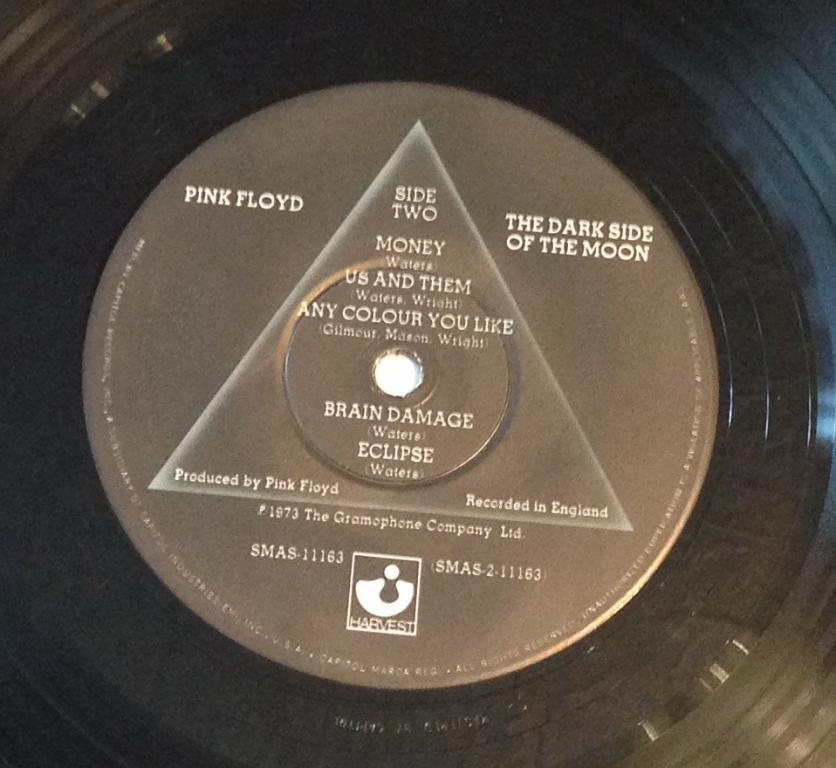 1973 - Pink Floyd - The Dark Side Of The Moon [UK Quadraphonic Vinyl