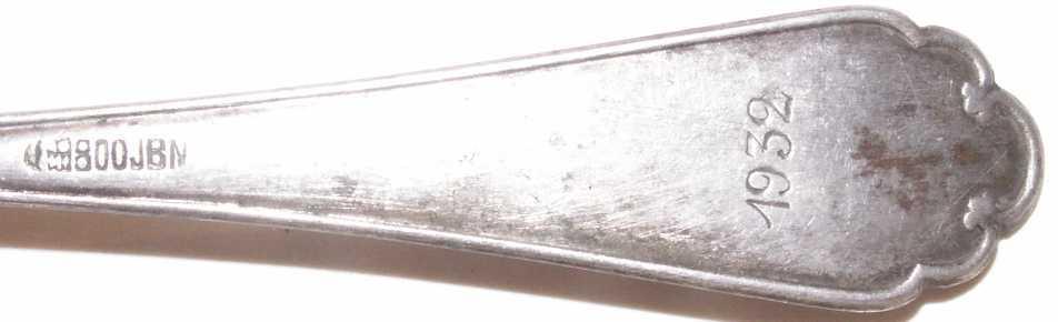 Ложка серебряная 1932 Германия EW