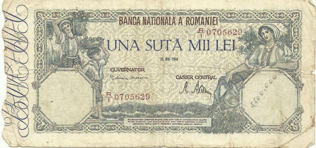 100000 лей румыния 1946 продажа монет в гомеле
