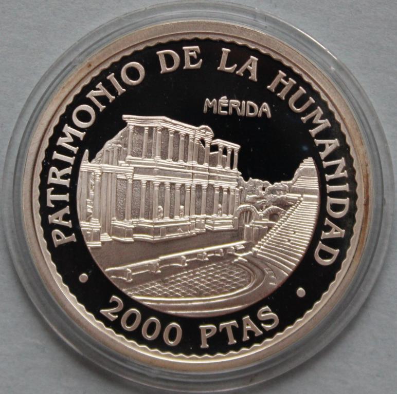 Испания 2000 песетес 1996 Мерида