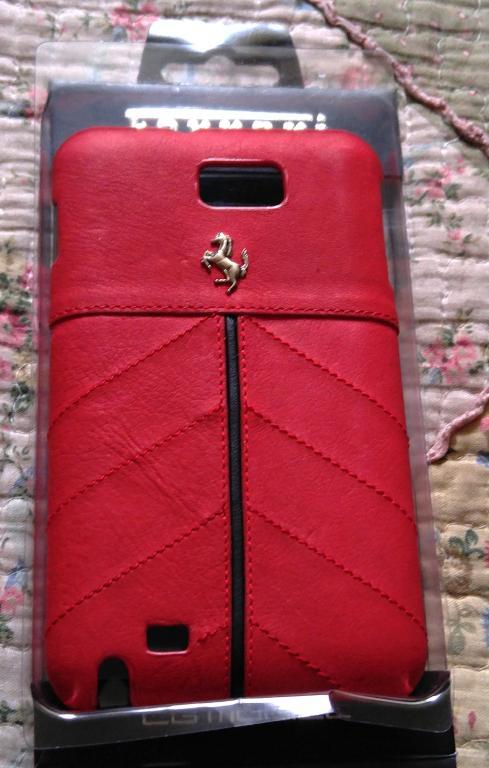 Чехол натуральная кожа Ferrari новый для Samsung Note оригинал