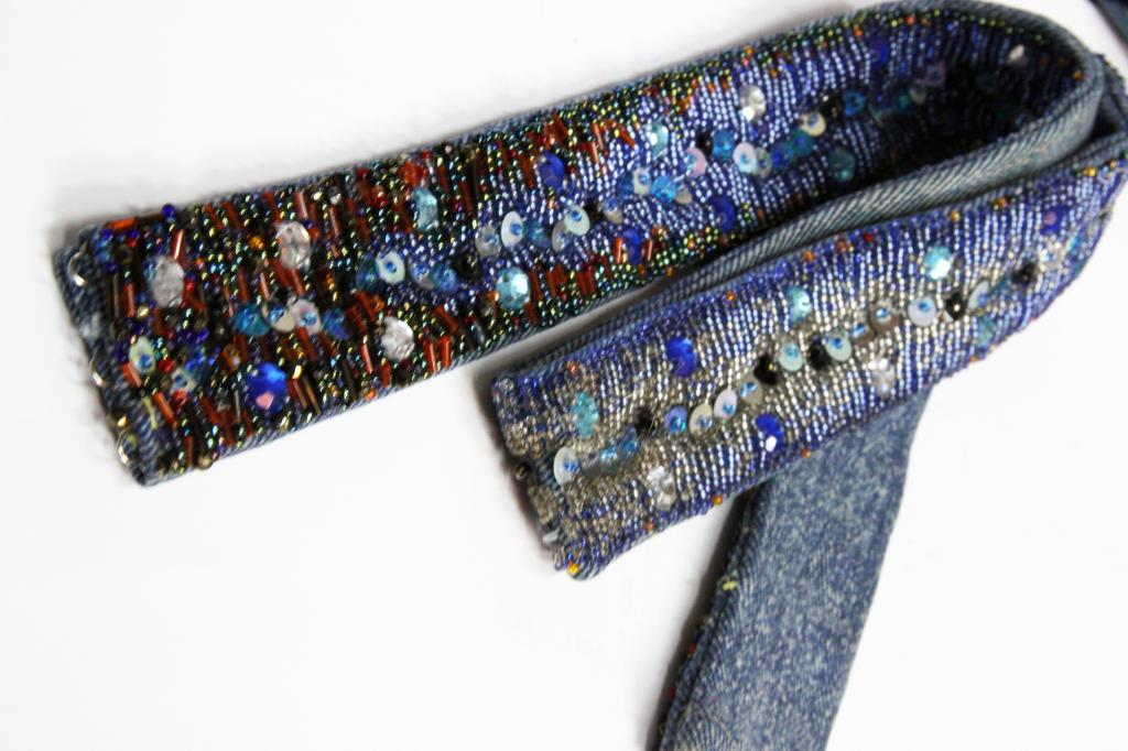 Пояса с вышивкой бисером 61