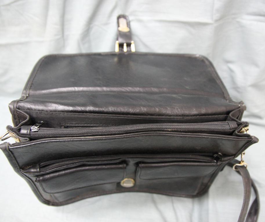 Сумка - портфель черная 1980-е годы