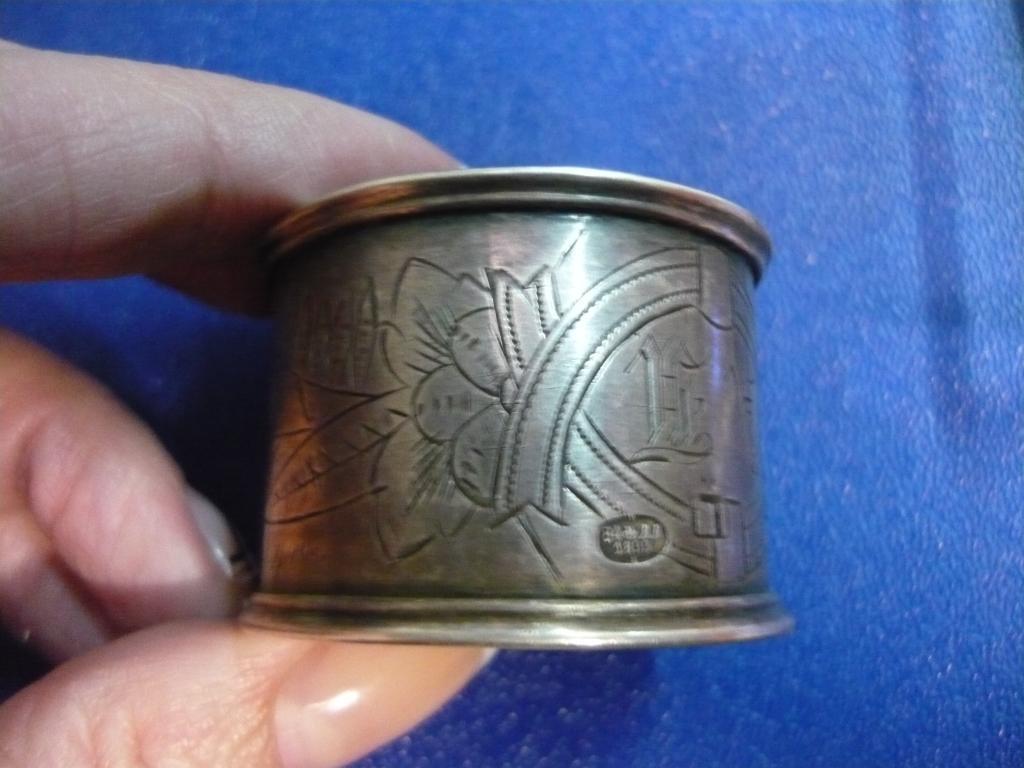 Кольцо для салфетки Серебро 84 пр 25,7 гр 1893