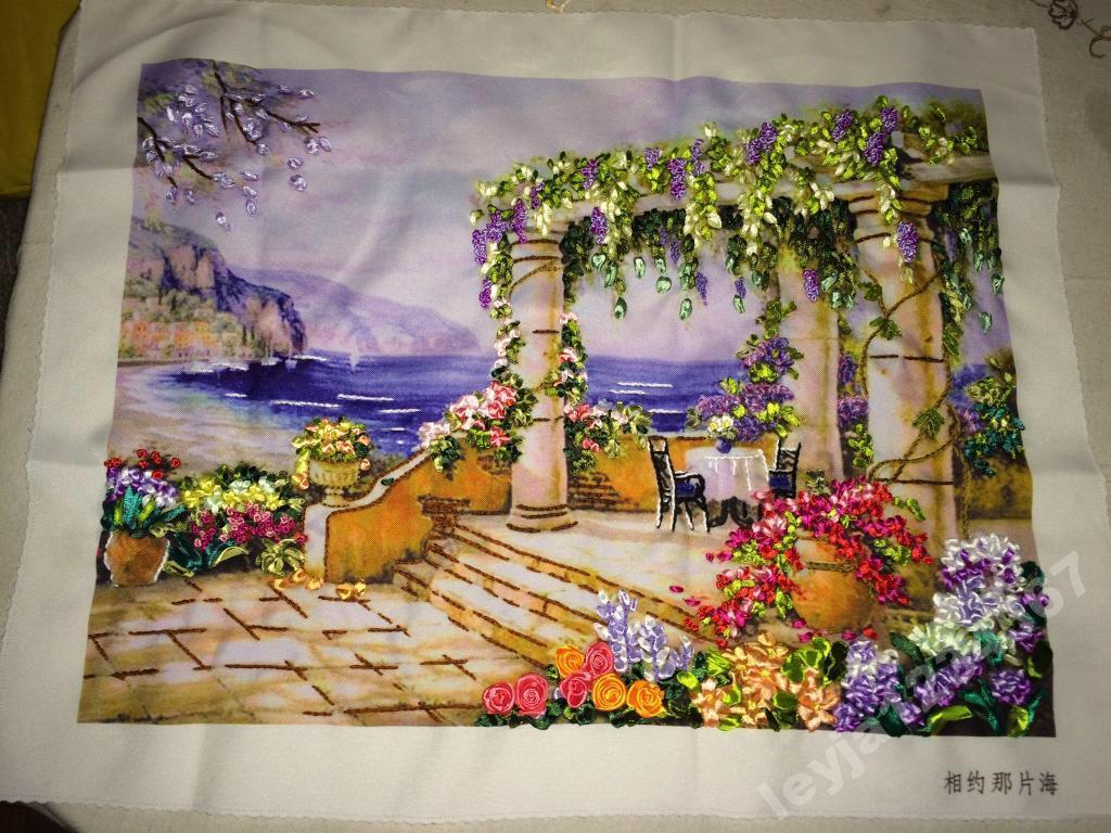 Вышивка лентами фото готовых работ картины 40