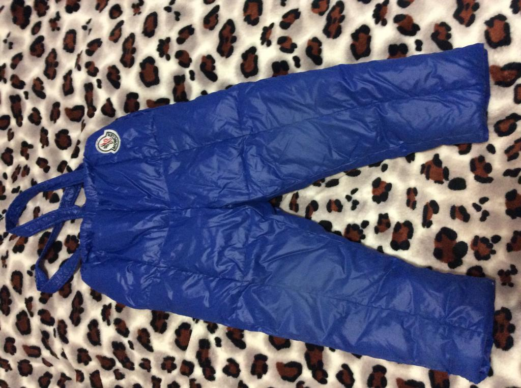 Теплые пуховые зимние штаны,р.104-110 см.