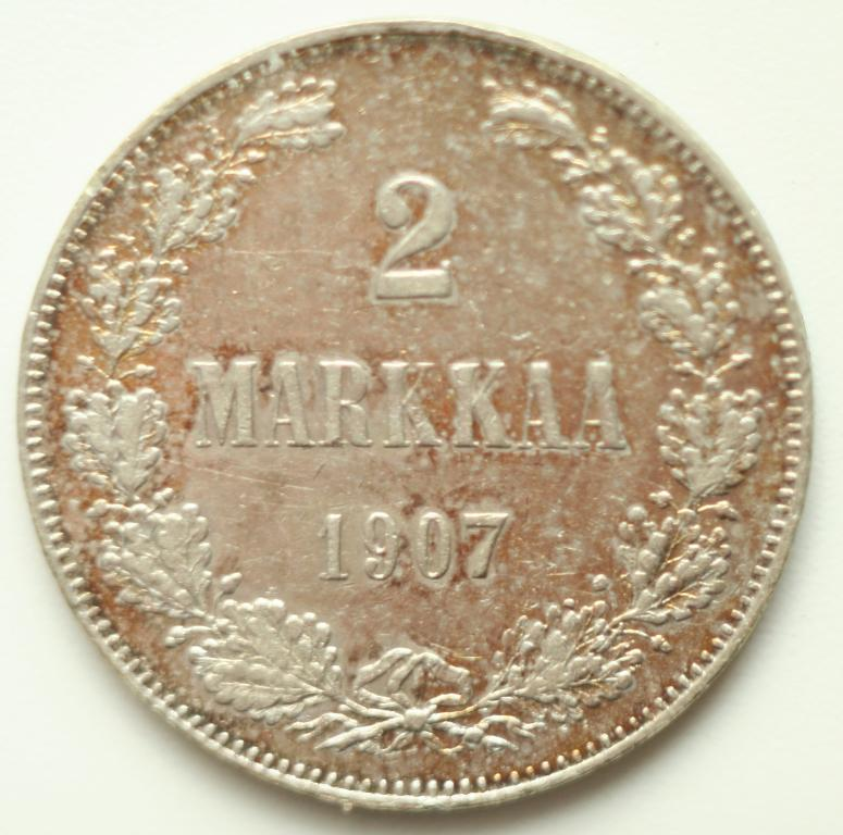 2 марки 1907 год. Финляндия