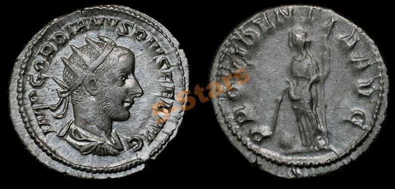 -AS-  Римская Империя - Гордиан III, антониниан Провидение (качество!)