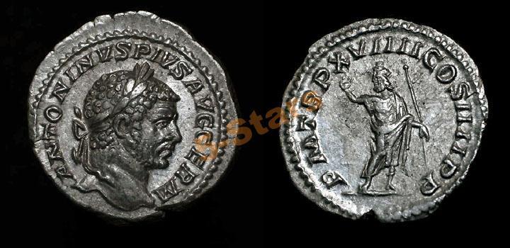 -AS-  Римская Империя - император Каракалла, денарий Серапис (качество!)
