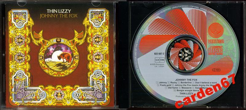 THIN LIZZY =JOHNNY THE FOX= 1976 WEST GERMANY PDO CD