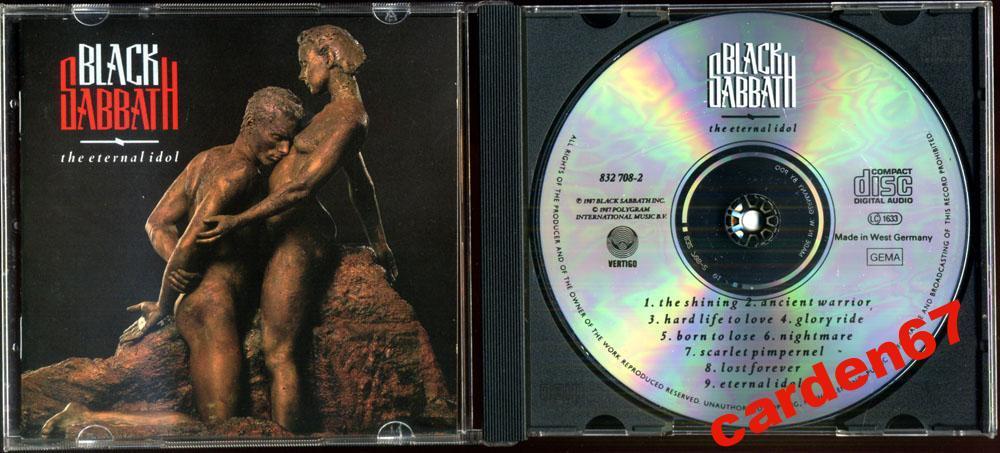 BLACK SABBATH =THE ETERNAL IDOL= 1987 WEST GERMANY PDO CD