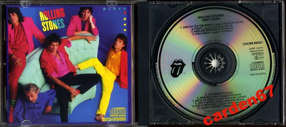 ROLLING STONES =DIRTY WORK= 1986 AUSTRIA CD