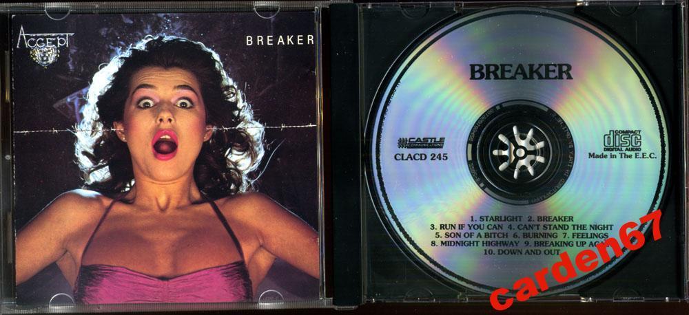 ACCEPT =BREAKER= 1981 CASTLE UK / ITALY CD