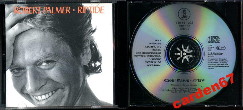 ROBERT PALMER =RIPTIDE= 1985 WEST GERMANY ARIOLA 610-222 CD
