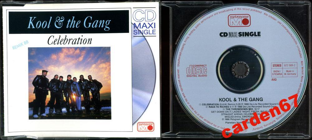 KOOL AND THE GANG =CELEBRATION= 1988 WEST GERMANY PDO MAXI-CD