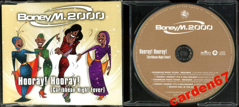 BONEY M =HOORAY! HOORAY!= 1999 GERMANY MAXI-CD