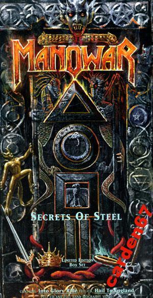 MANOWAR =SECRETS OF STEEL= 1993 GERMANY 2CD + VIDEO BOX-SET