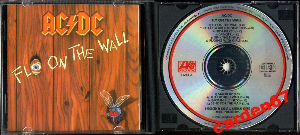 AC/DC =FLY ON THE WALL= 1985 WEST GERMANY POLYGRAM