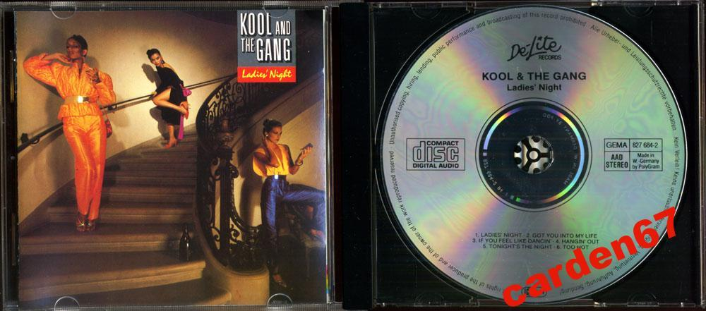 KOOL AND THE GANG =LADIES' NIGHT= 1979 WEST GERMANY PDO CD